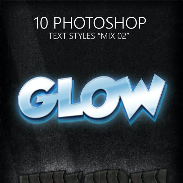 "10 Photoshop Styles ""Mix 02"""