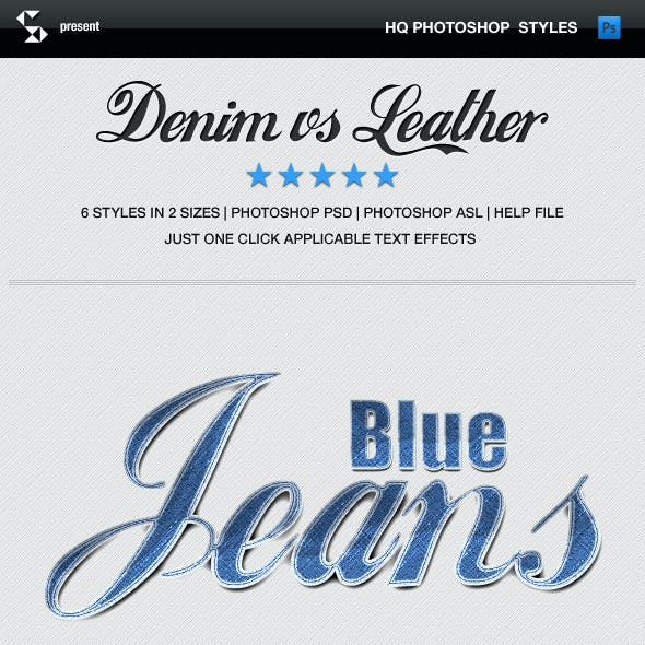 Denim and Leather Styles - Jeans and Leather