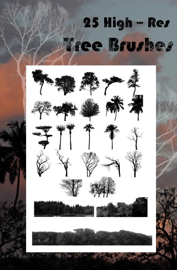 25 Tree Brushes - Brushes Photoshop