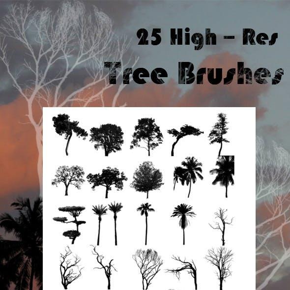 25 Tree Brushes