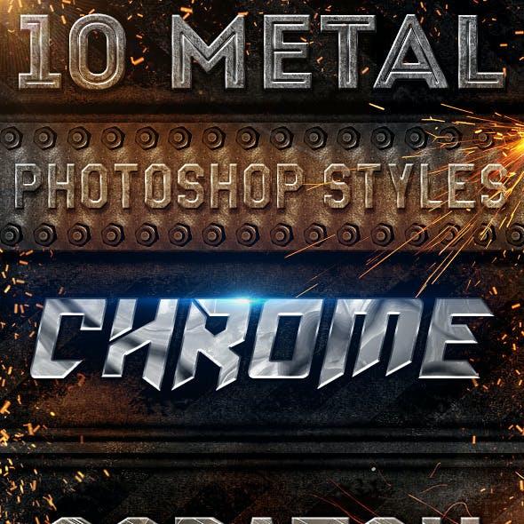 10 Epic Metal Photoshop Styles