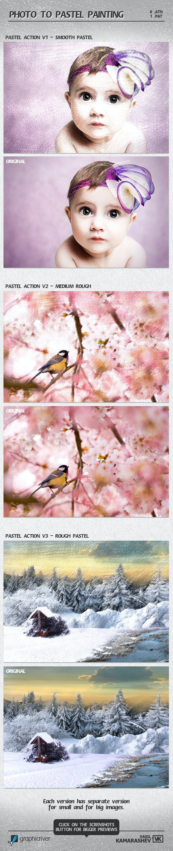 Photo to Pastel Painting - Photo Effects Actions