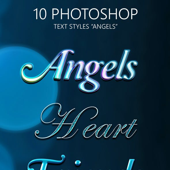 "10 Photoshop Styles ""Angels"""