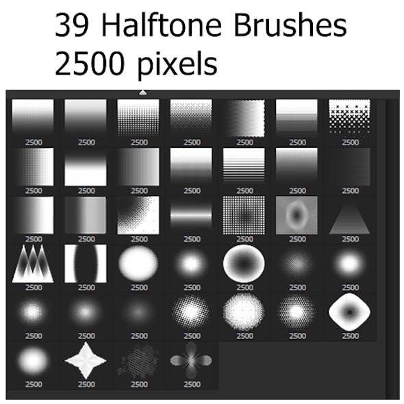 39 Halftones Brushes