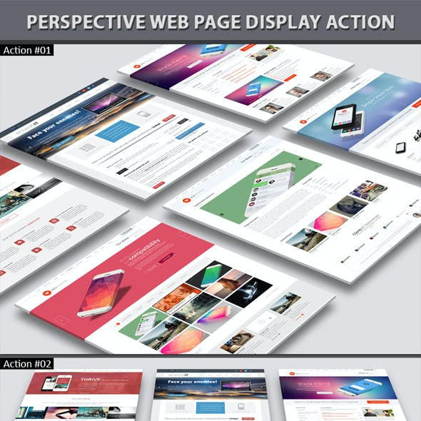 Perspective Web Page Display Action