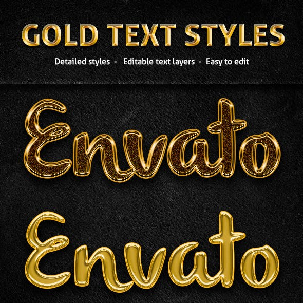 Gold Text Styles
