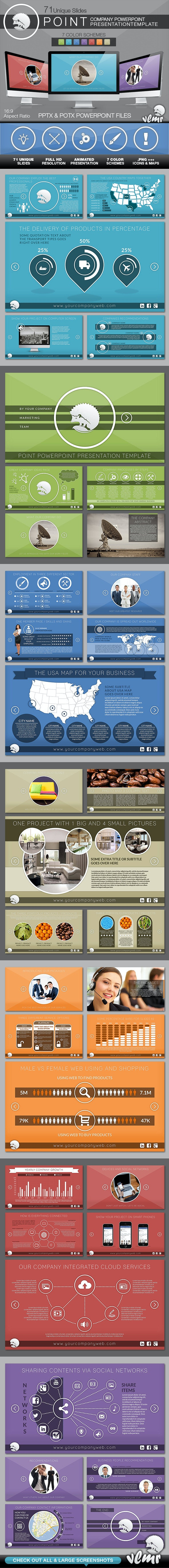 Point Company PowerPoint Presentation Template - Business PowerPoint Templates
