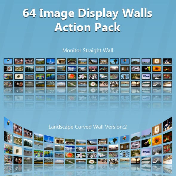 64 Image Display Wall Action Pack