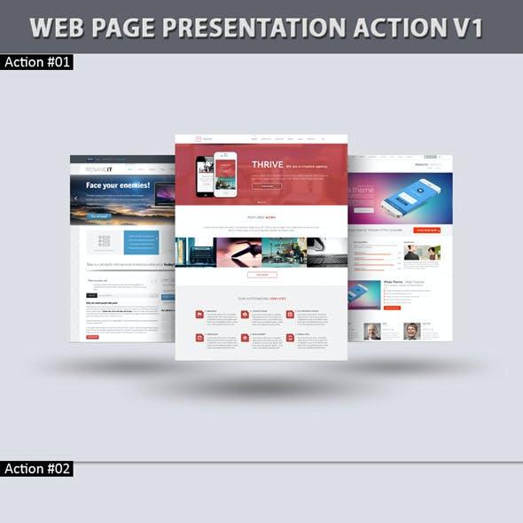 Web Page Presentation Action V1