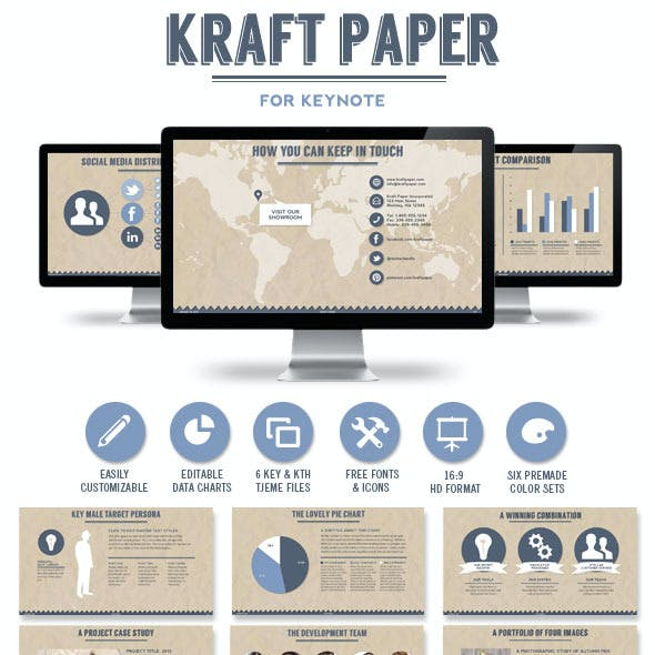 Kraft Paper Keynote Presentation Template