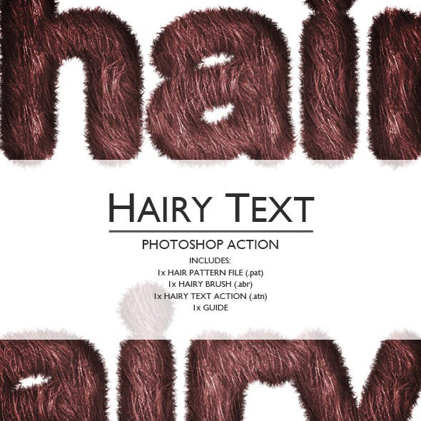 Hairy Photoshop Text Action