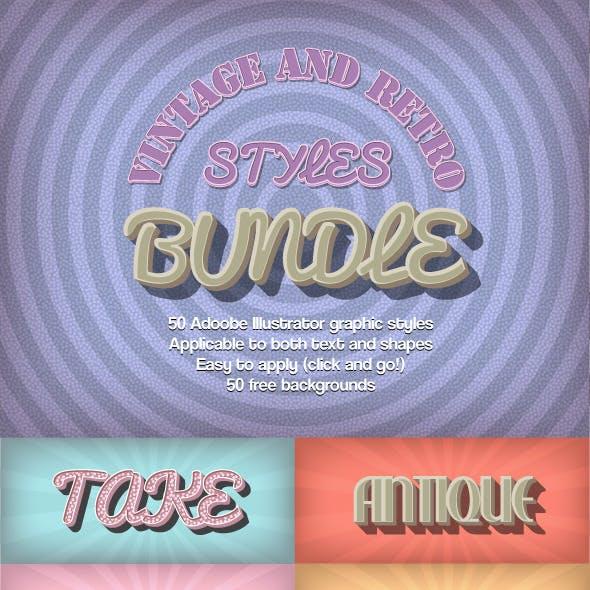 Bundle-Vintage and Retro Styles
