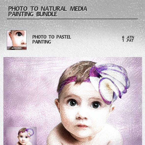 Photo to Natural Media Painting Bundle