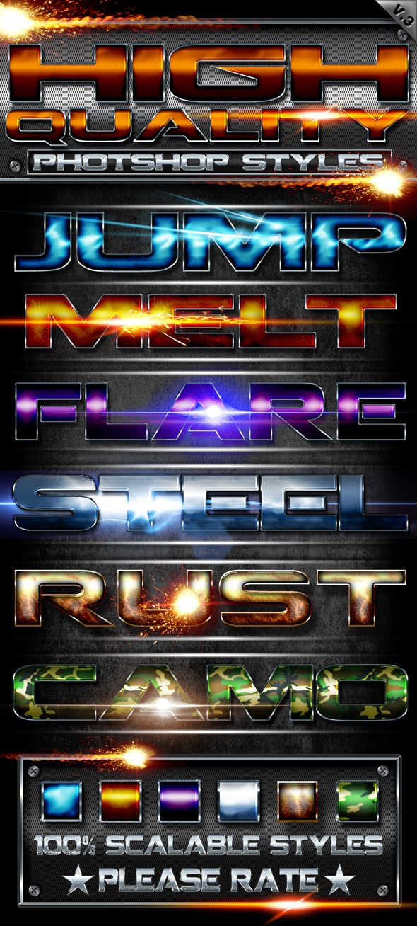 High Quality Styles v3 - Text Effects Styles