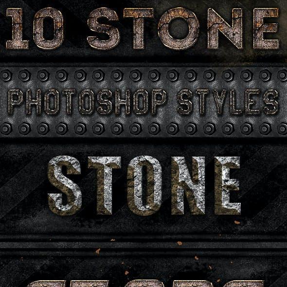10 Stone Photoshop Styles