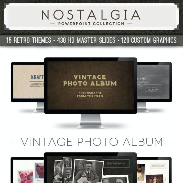 Nostalgia Collection Powerpoint Template Bundle