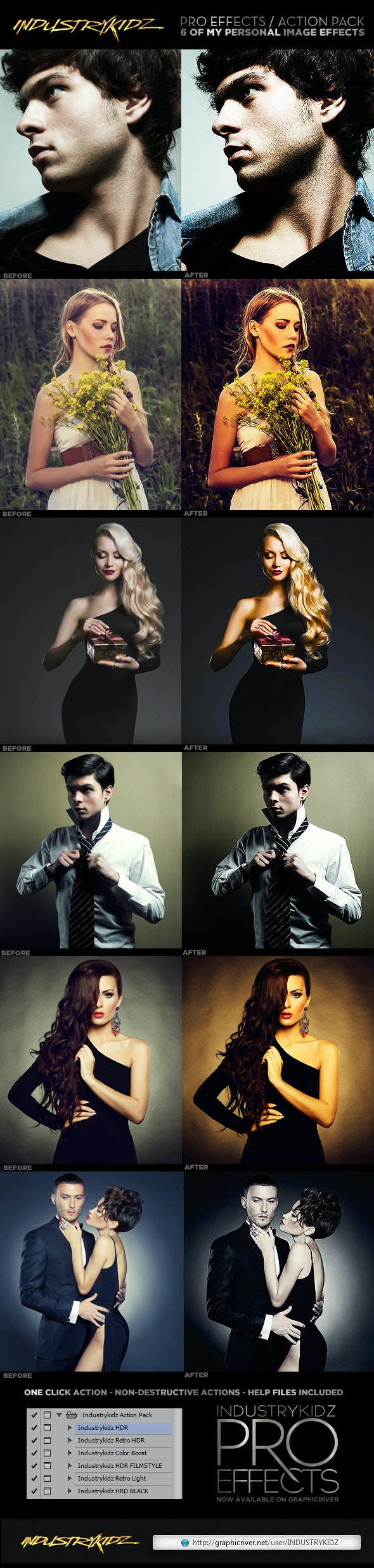 Pro Effects Photoshop Actions - Photo Effects Actions