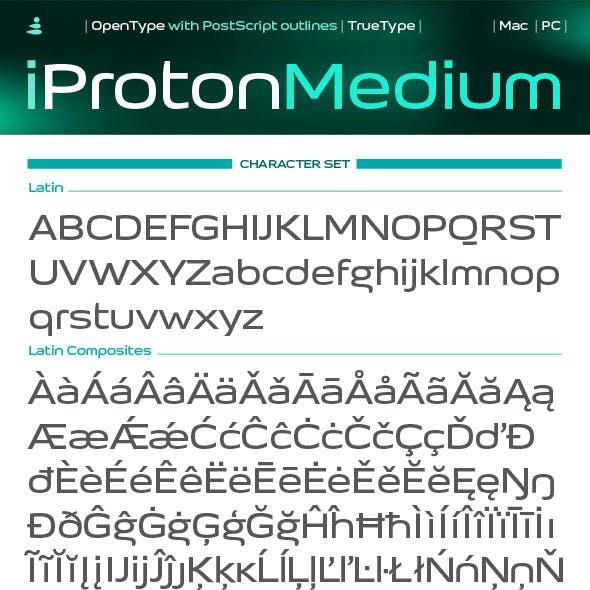 iProton Medium Font
