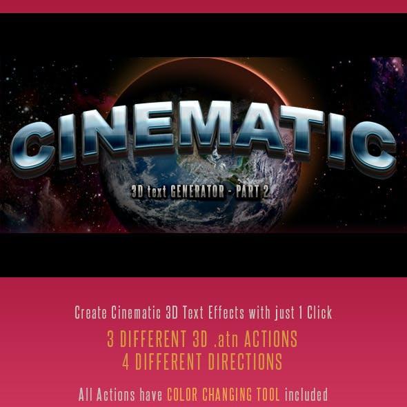 3D Cinematic Text Generator 2 - Actions
