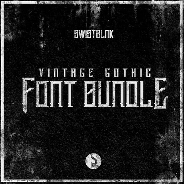 Vintage Gothic Font Bundle