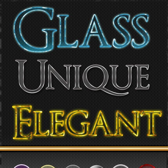 Refined Glass Text Styles