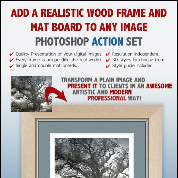 Realistic Wood Frame Actions