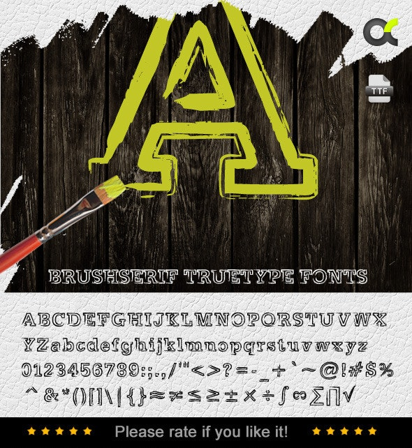 BrushSerif TrueType Font - Serif Fonts