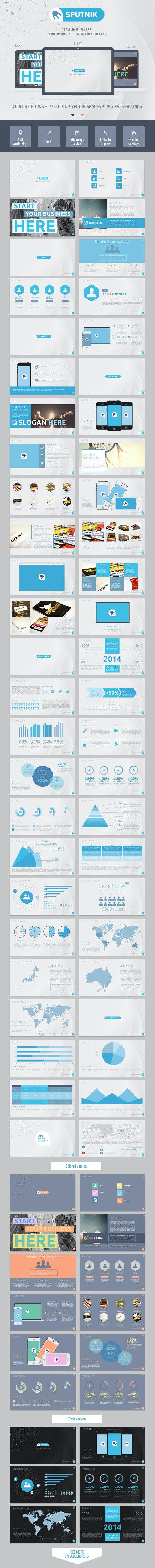 Sputnik PowerPoint Presentation Template - PowerPoint Templates Presentation Templates