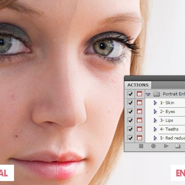 Portrait Enhancing Photoshop Action