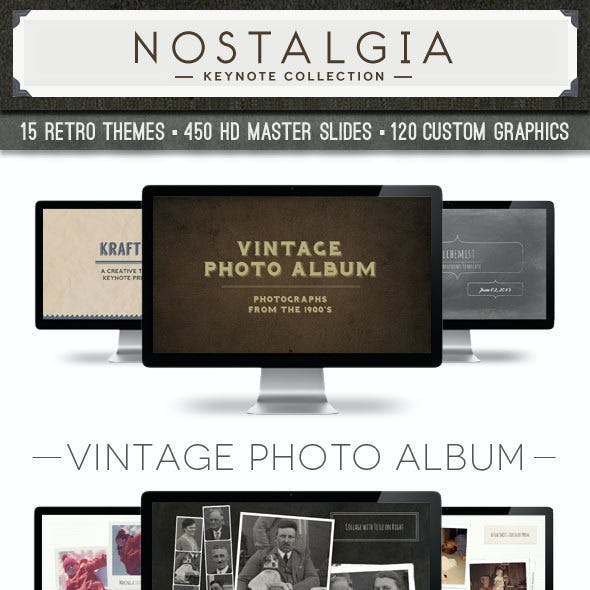 Nostalgia Collection Keynote Template Bundle