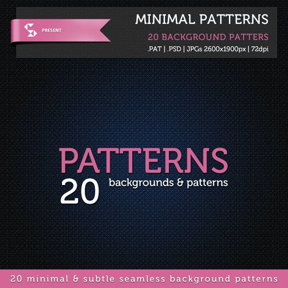 20 Minimal Patterns - Subtle Background Patterns