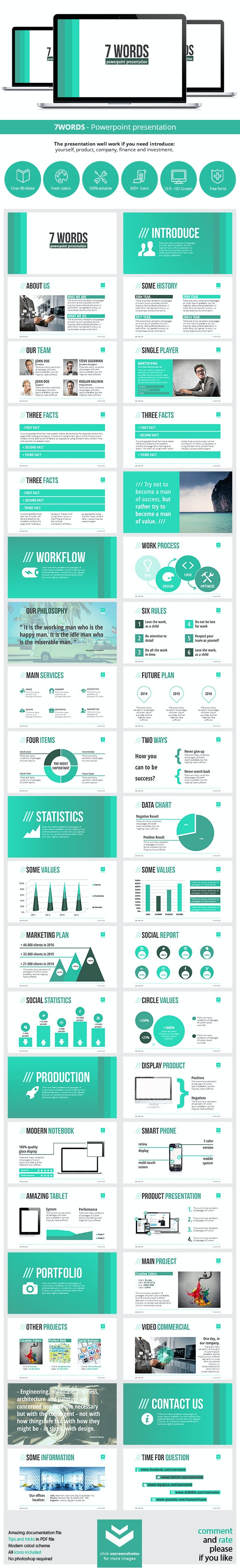 7WORDS Powerpoint Presentation - Business PowerPoint Templates