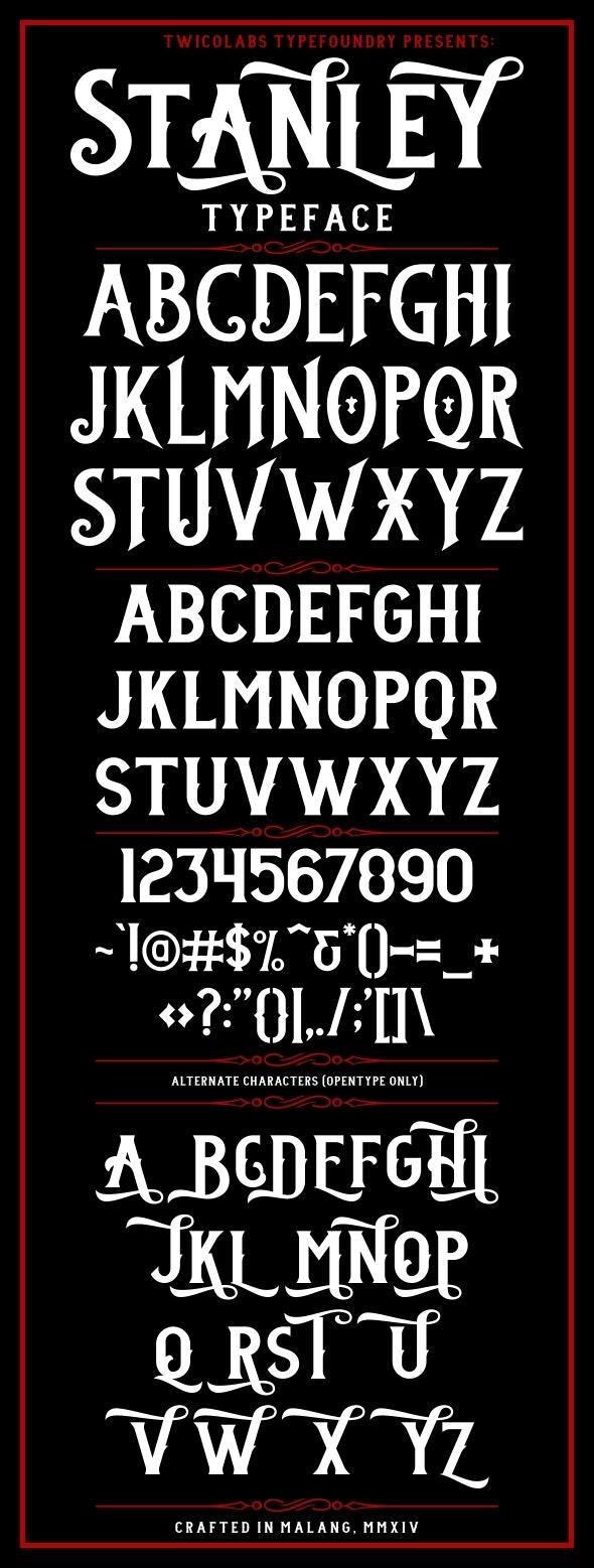 Stanley Typeface - Gothic Decorative