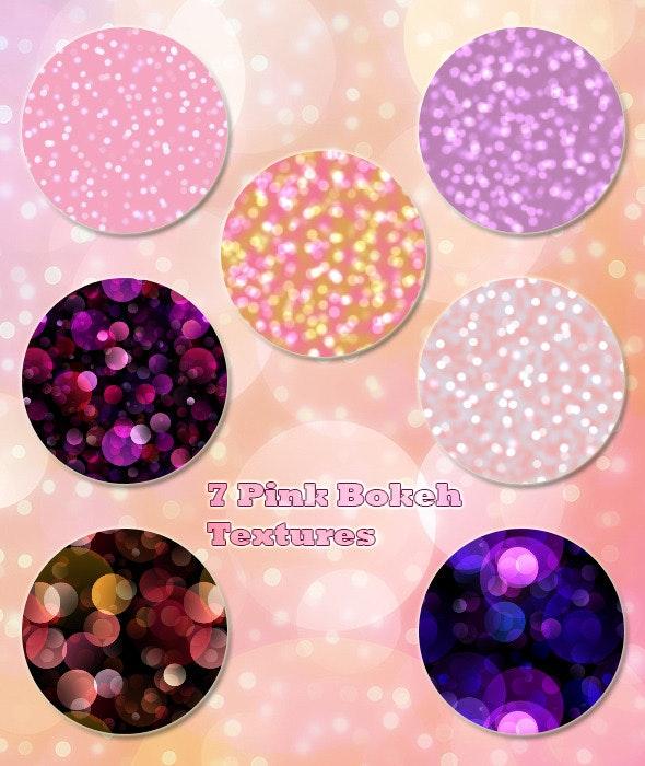 7 Pink Bokeh Textures - Abstract Textures / Fills / Patterns