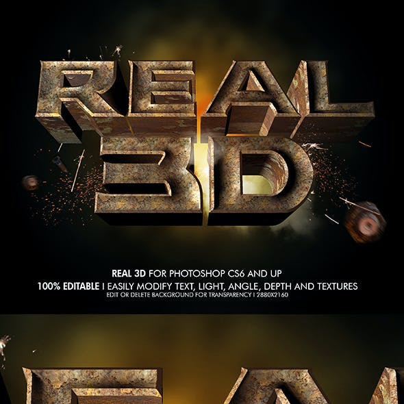 Real 3D Rustic Metal V2