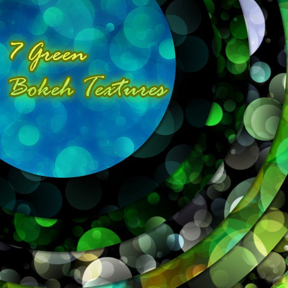 7 Green Bokeh Textures