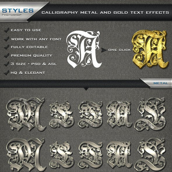 Calligraphy Metal and Gold Text Effects
