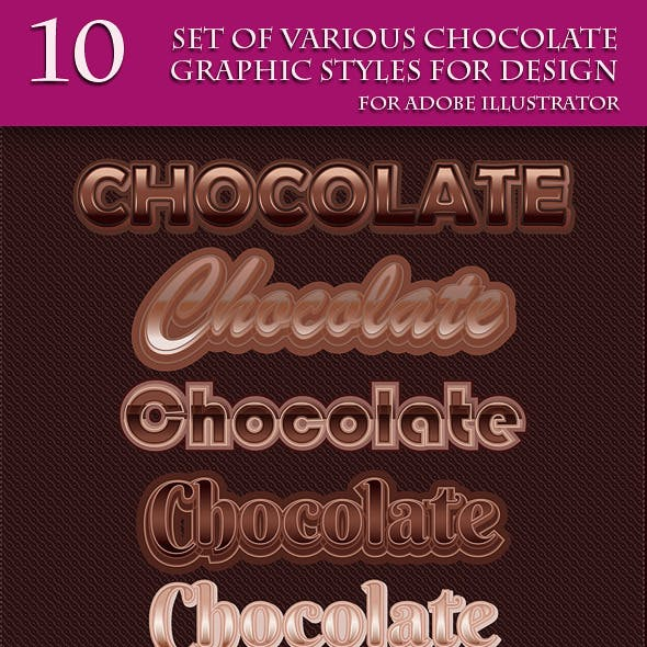 Set of Various Chocolate Graphic Style for Design