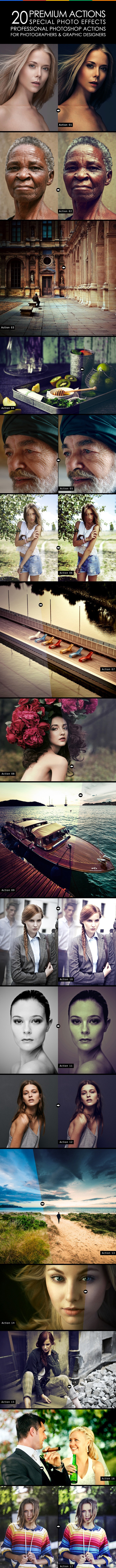 20 Premium Actions - Photo Effects Actions