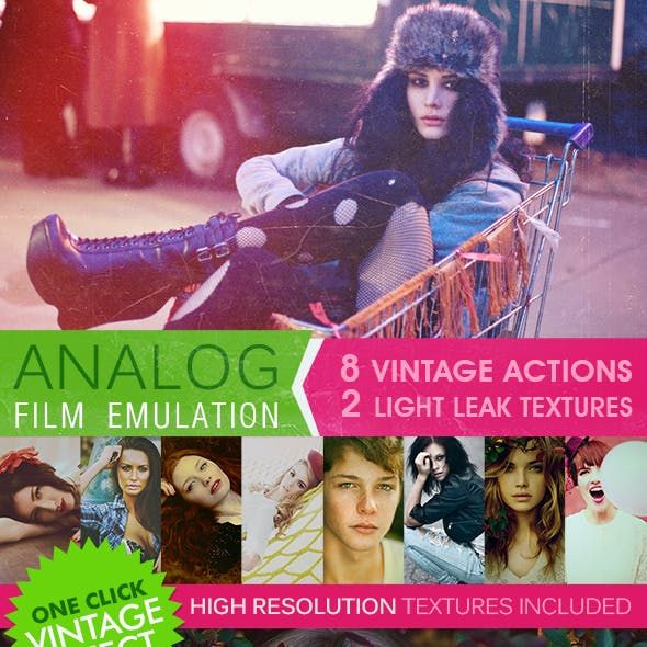 HQ Film Emulation Actions and Textures VI