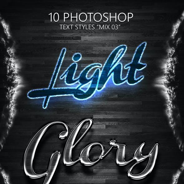 "10 Photoshop Styles ""MIX 03"""