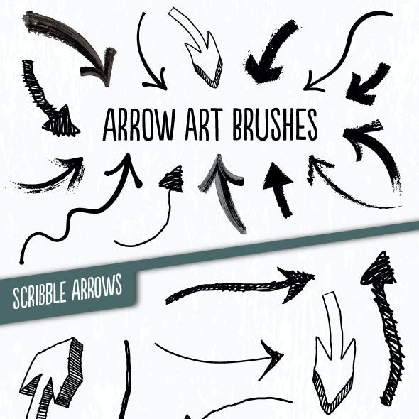 Hand-drawn Arrow Brushes