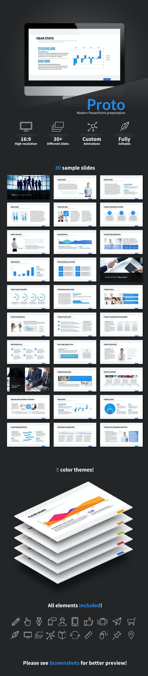 Proto PowerPoint presentation - Business PowerPoint Templates