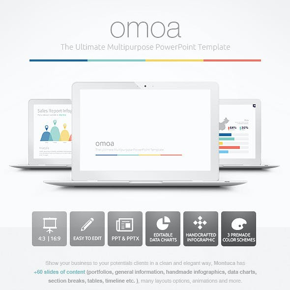 Omoa - Ultimate Multipurpose PowerPoint Template
