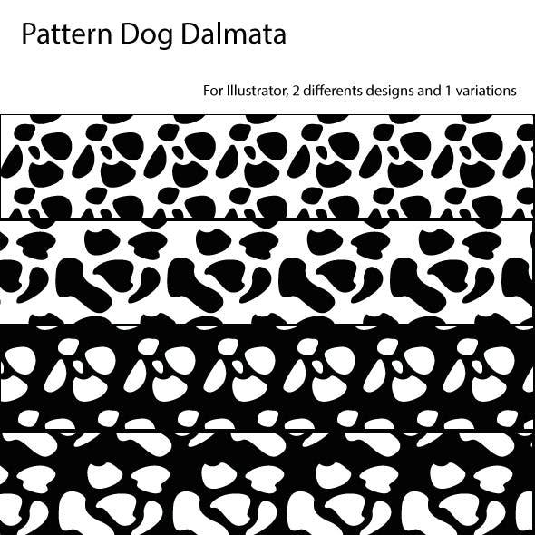 Seamless Pattern Dog Dalmatian