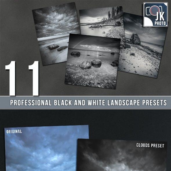 11 PRO BW Lightroom Presets Landscape