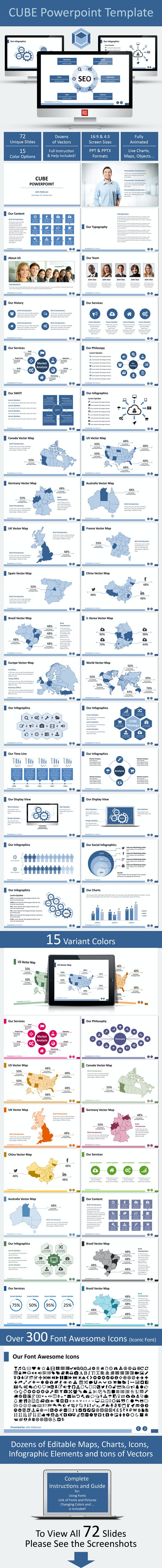 Cube Powerpoint Template - Business PowerPoint Templates