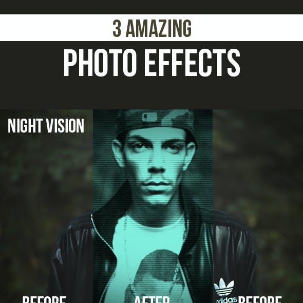 3D Anamorphic, Futuristic Glow, Night Vision