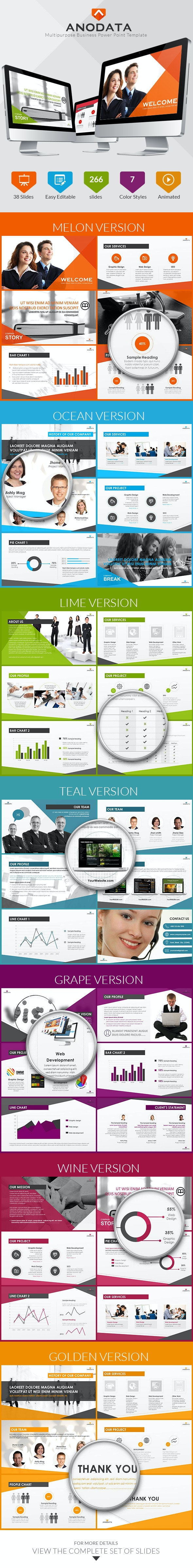 Multipurpose Business Power Point Template - Business PowerPoint Templates