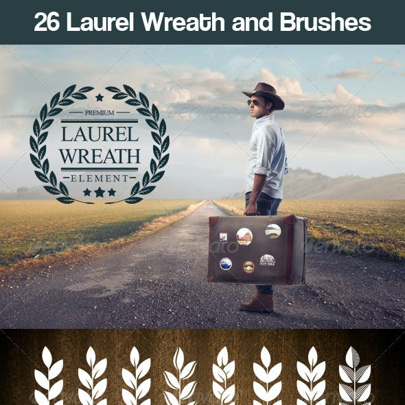 26 Laurel Wreath and Brushes